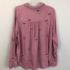 Anthropologie Tops - Anthro county fair embroidered button up shirt -18